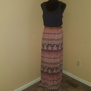 Trixxi Maxi dress with belt